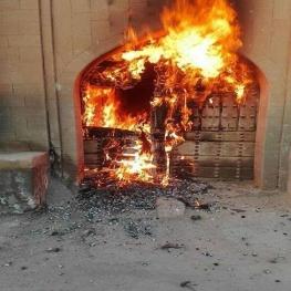 خانه تاریخی مرعشی شوشتر به آتش کشیده شد