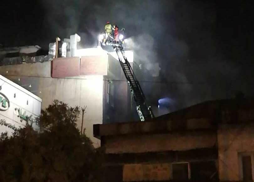 آتشسوزی در درمانگاه سینا ابهر در خیابان شریعتی
