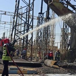 آتش سوزی در نیروگاه زرگان بر اثر انفجار ترانس