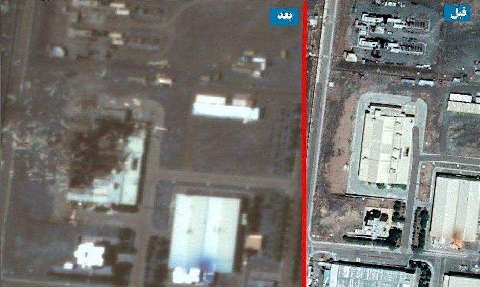 محل انفجار در تاسیسات هستهای نطنز