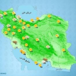 سمنان و فارس رگبار باران گاهی رعد و برق و وزش باد شدید موقت پیشبینی میشود.
