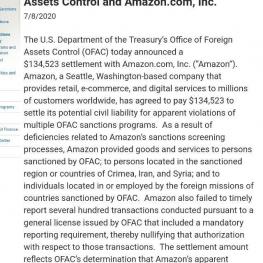 شرکت آمازون به نقض تحریمهای ایران و سوریه متهم شد