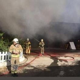 آتشسوزی در شهرک صنعتی جاجرود پردیس