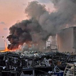 آسیب بزرگترین سیلوی غلات بیروت در انفجار مهیب