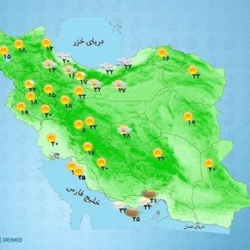 از روز جمعه تا دوشنبه در سواحل خزر دما ۴ تا ۸ درجه افزایش مییابد.