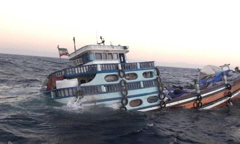 غرق شدن لنج ایرانی، هنگام بازگشت از دبی