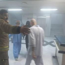 آتش سوزی در بیمارستان خیابان سخایی