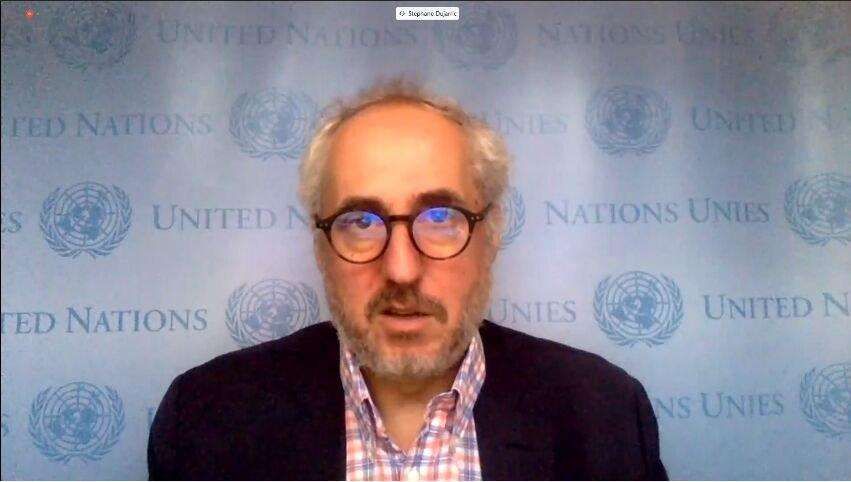 سخنگوی گوترش: پمپئو درباره قطعنامه ۲۲۳۱ با دبیرکل سازمان ملل متحد دیدار میکند