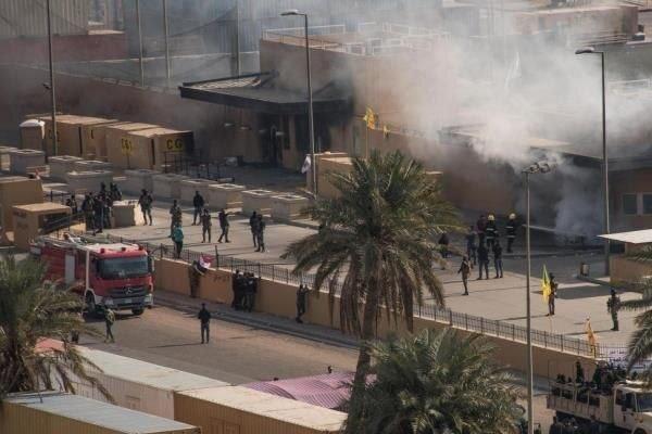 حمله راکتی به سفارت آمریکا در منطقه سبز بغداد