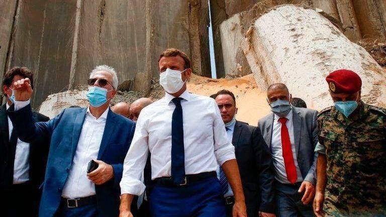 مکرون دوباره به بیروت سفر کرد!