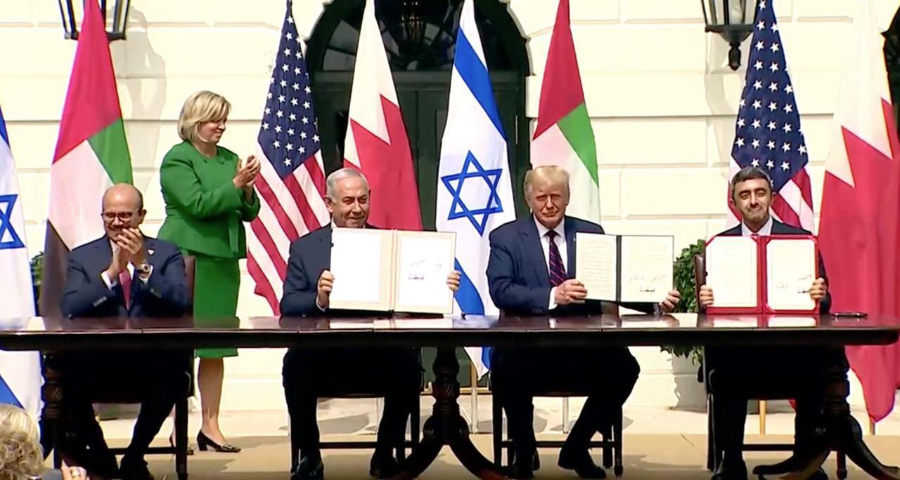 توافق صلح اسراییل با امارات و بحرین امضا شد