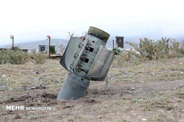 اصابت موشک مناقشه قره باغ به ۱۲۰ کیلومتری تبریز در هریس
