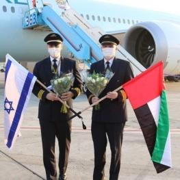 ولین هواپیمای مسافربری امارات در فرودگاه تل آویو فرود آمد