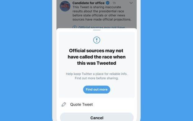 توییتر: فقط ۷ رسانه مجازند نام برنده انتخابات ریاست جمهوری آمریکا را اعلام کنند