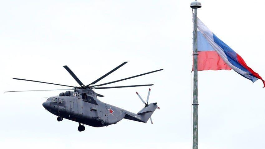 هدف قرار گرفتن هلیکوپتر ارتش روسیه بر فراز ارمنستان
