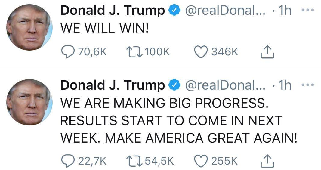 """دونالد ترامپ در توئیتر از """"پیروزی """" در انتخابات خبر داد!"""