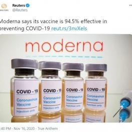 درصد موفقیت واکسن کرونا به ۹۴.۵٪ رسید