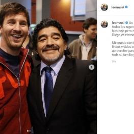 واکنش لیونل مسی به درگذشت مارادونا