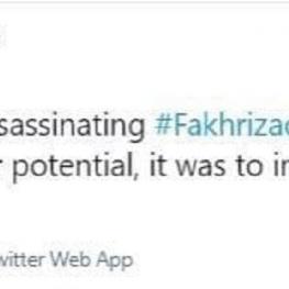 واکنش دیپلمات سرشناس آمریکایی به ترور شهید فخریزاده
