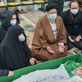 حضور حجت الاسلام رئیسی در معراج شهدا