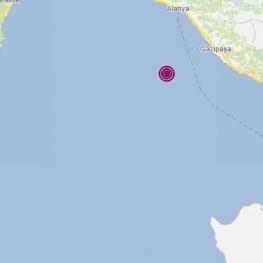 زلزله در استان آنتالیای ترکیه