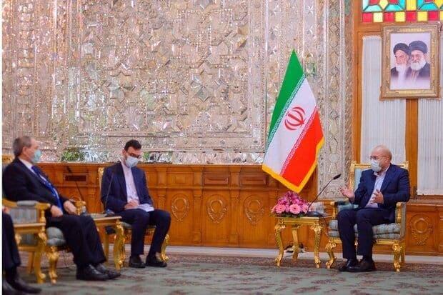 وزیر خارجه سوریه با قالیباف دیدار و گفتگو کرد