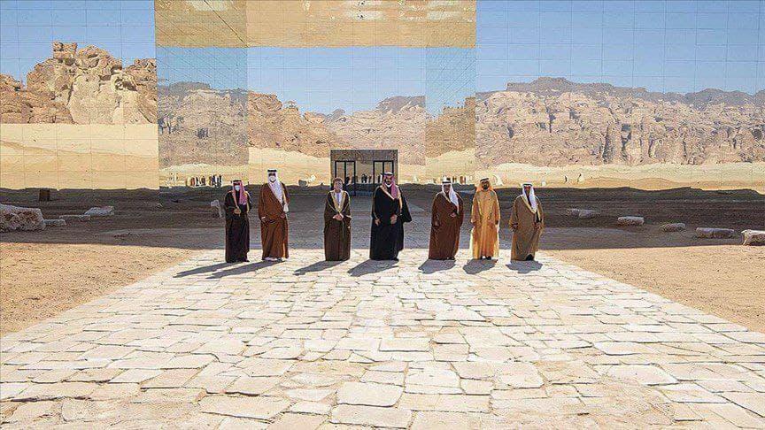 عکس یادبود سران ۶ کشور جنوب خلیج فارس