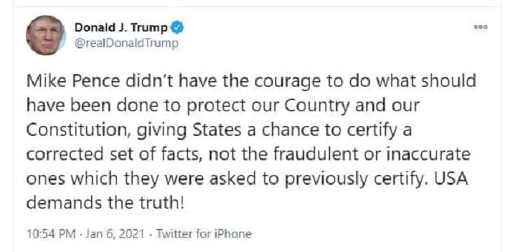 حمله توییتری ترامپ به معاونش