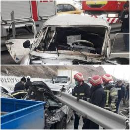 ۲ کشته و ۵ مصدوم در تصادف جاده تهران-تبریز