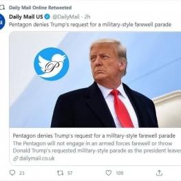 پنتاگون درخواست ترامپ برای رژه خداحافظی به سبک نظامی را رد کرد