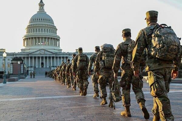 ۲۰۰ نظامی آمریکایی در مراسم تحلیف بایدن به کرونا مبتلا شدند