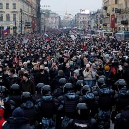 تظاهرات هزاران معترض در شهرهای روسیه؛ بازداشت بیش از ۳۴۵۰ نفر به دست پلیس