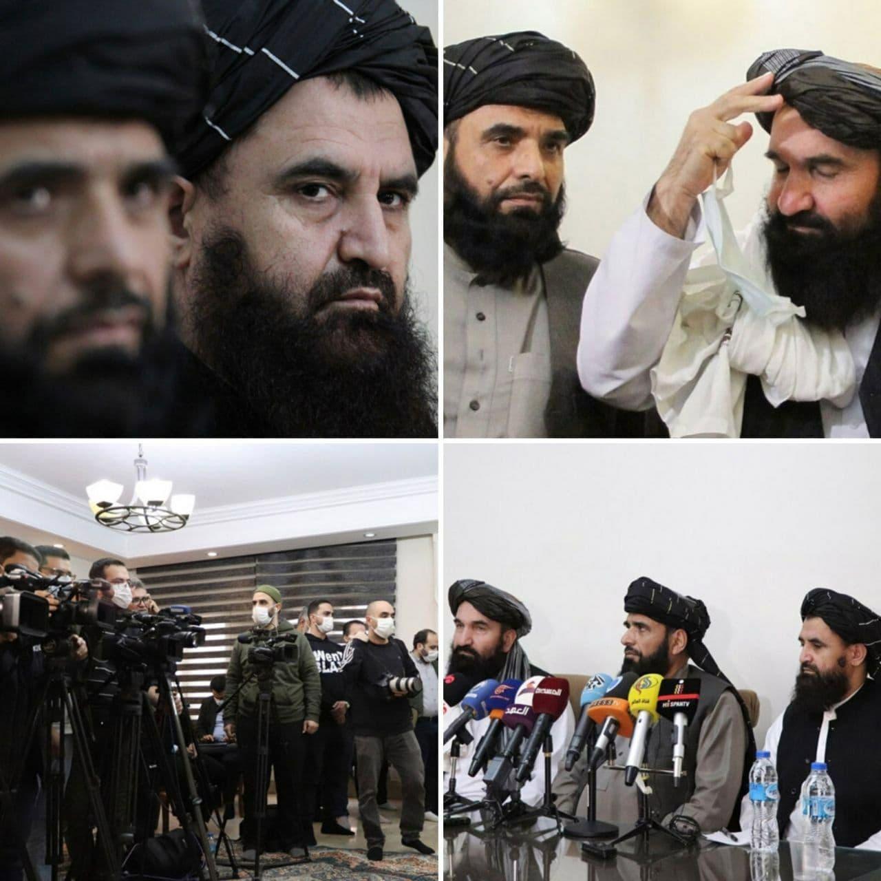 نشست خبری هیات سیاسی طالبان در تهران