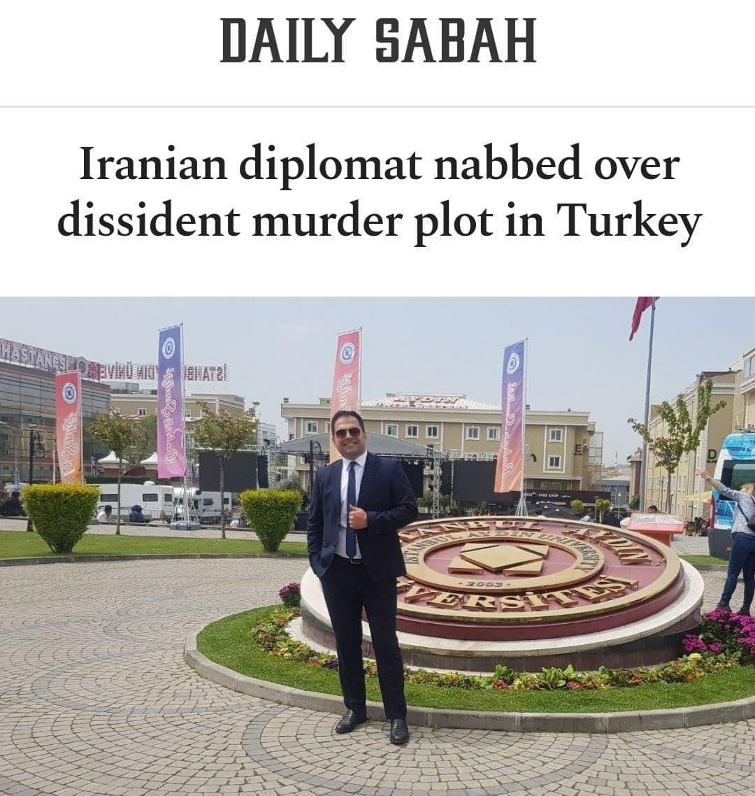 یک دیپلمات ایرانی در استانبول به جرم مشارکت در قتل مسعود مولوی بازداشت شد