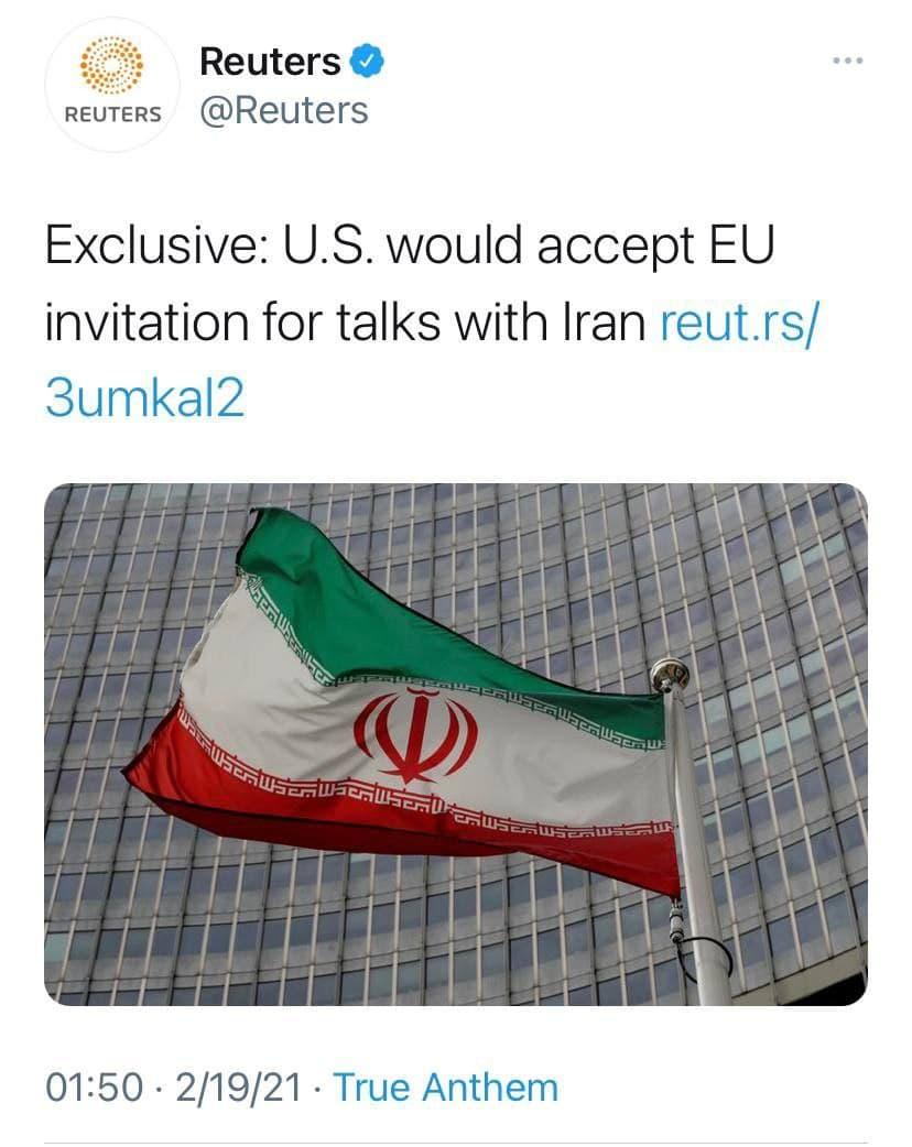 یک مقام ارشد آمریکایی: اروپا از ما دعوت کند آماده گفتوگو با ایران هستیم