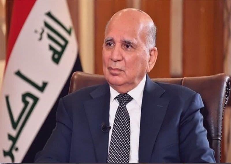 «فواد حسین» وزیر خارجه عراق وارد تهران شد.