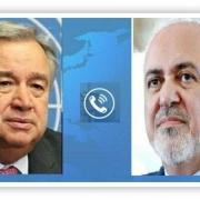 گفتگوی وزیر خارجه ایران با دبیرکل سازمان ملل