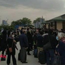 ازدحام مسافران در فرودگاه اهواز برای تست کرونا