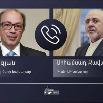 گفتوگوی ظریف و همتای ارمنستانی درباره امنیت و ثبات منطقه