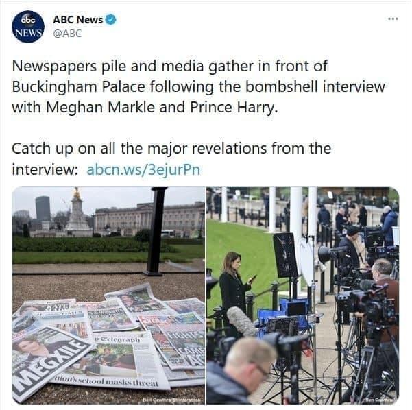هجوم بیسابقه رسانهها به کاخ باکینگهام برای شنیدن پاسخ خاندان