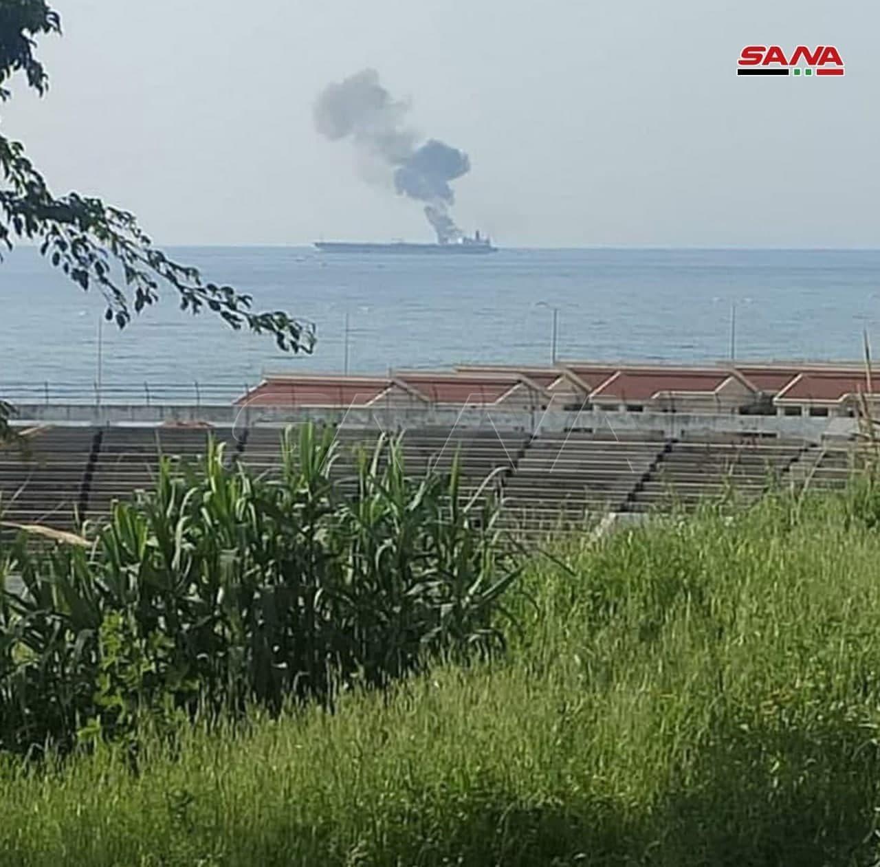 حمله به یک نفتکش در سواحل بندر بانیاس سوریه