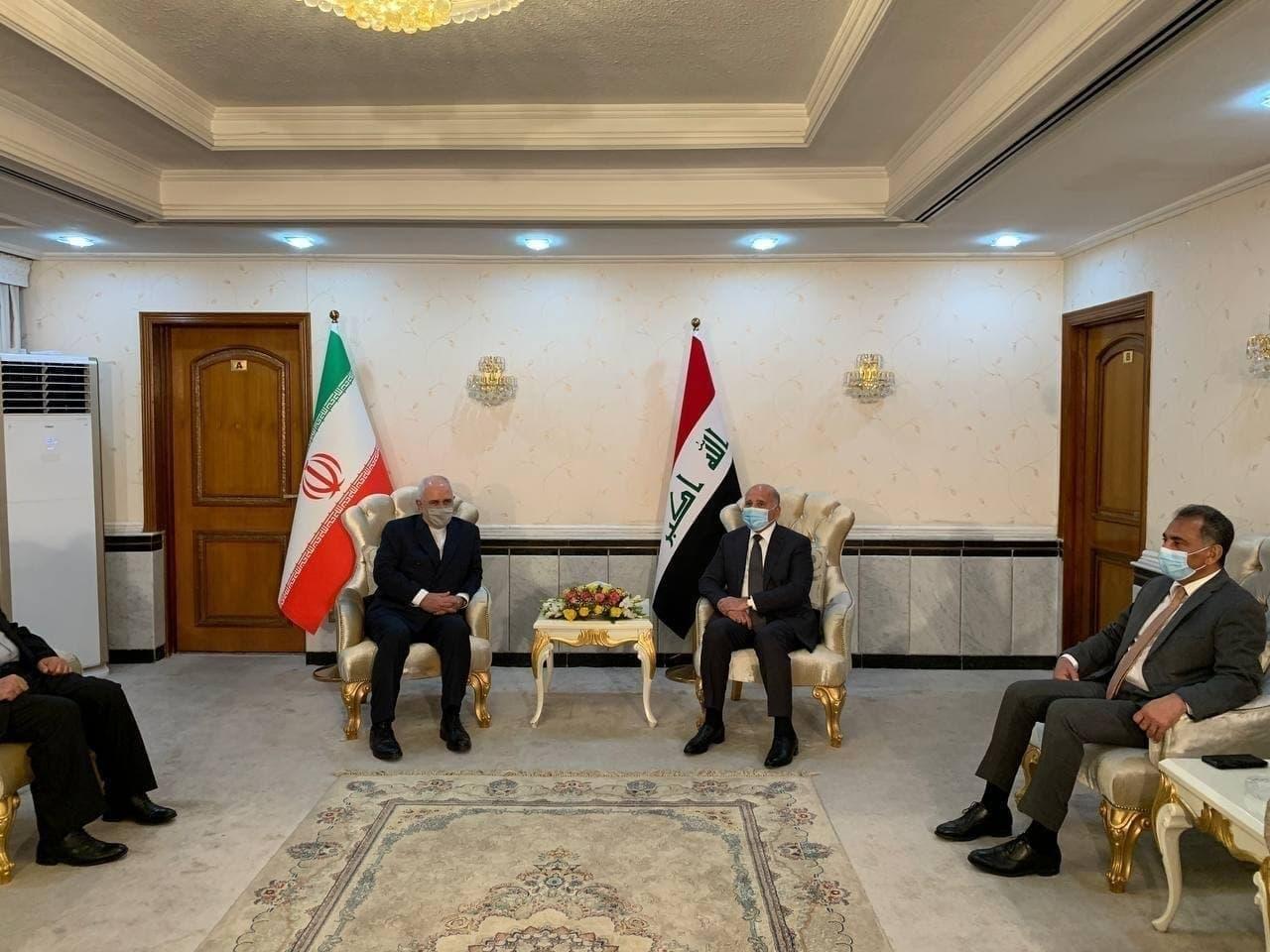 دیدار ظریف با وزیر خارجه عراق