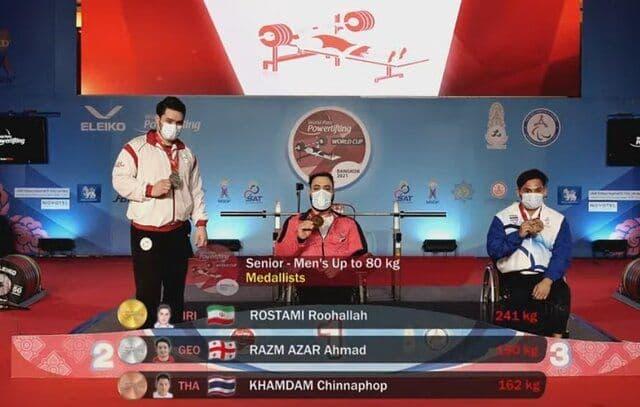 روحالله رستمی رکورد دنیا را شکست و دومین طلایی ایران شد