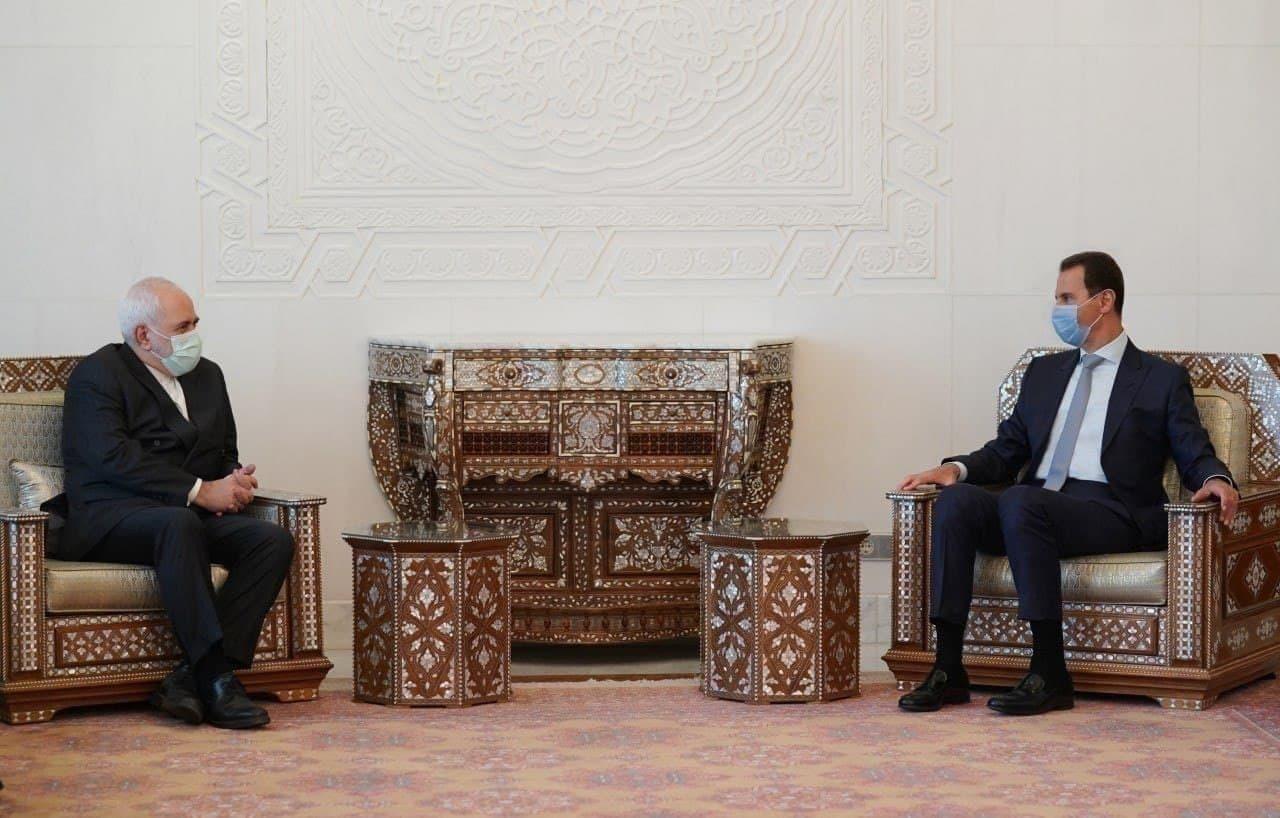 دیدار بشار اسد با محمد جواد ظریف