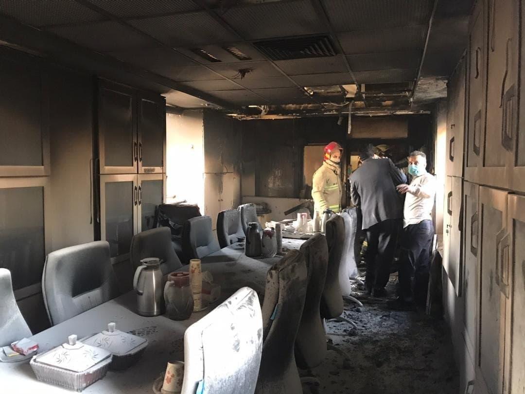 آتشسوزی در بیمارستان بقیه الله تهران