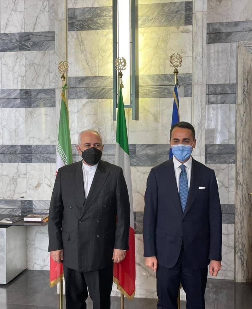 دیدار و گفتوگوی محمد جواد ظریف با لوییجی دی مایو، وزیر امور خارجه ایتالیا