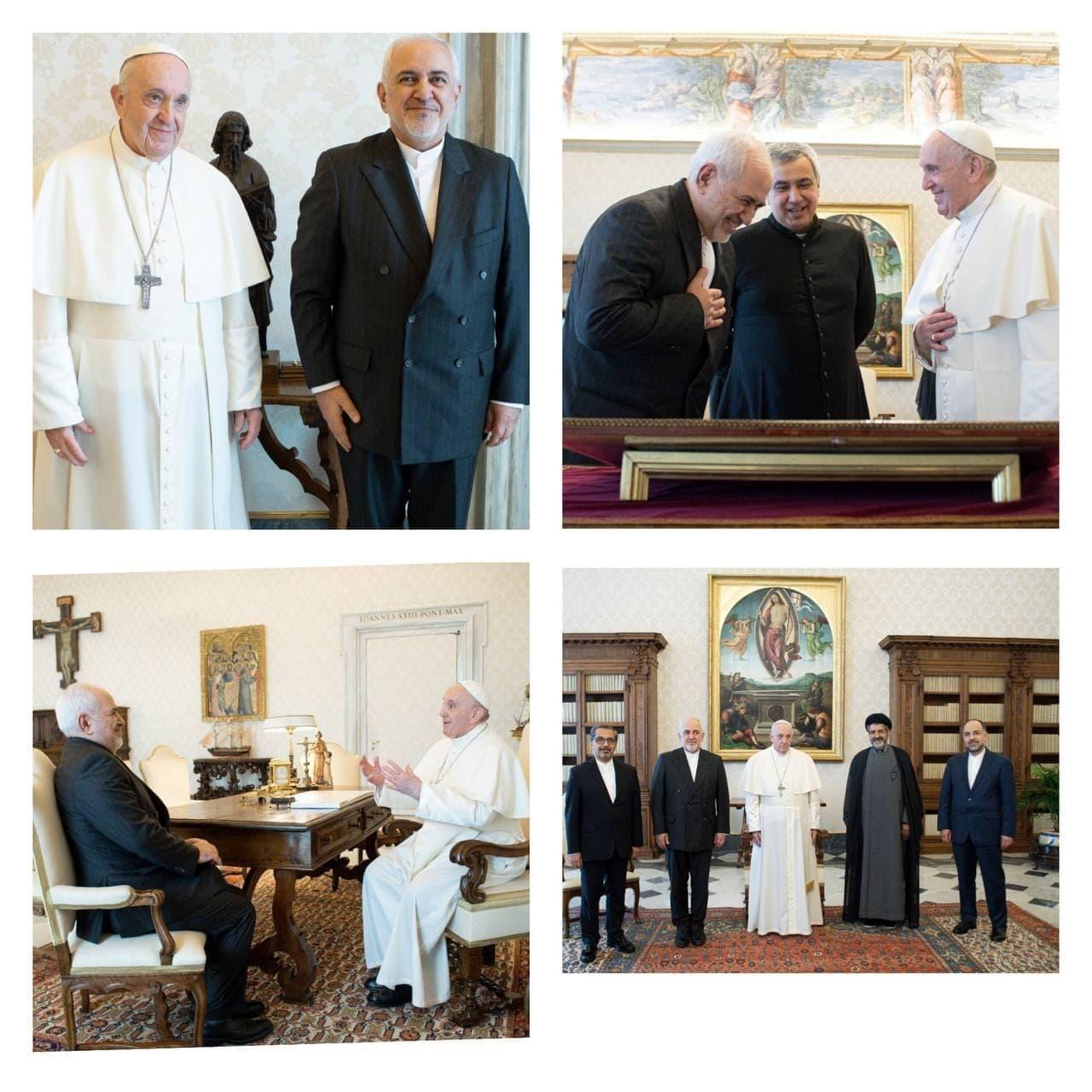 دیدار ظریف با پاپ