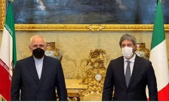 ظریف با رئیس مجلس نمایندگان ایتالیا دیدار کرد