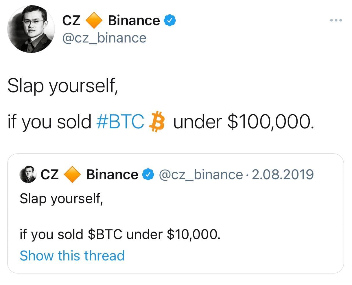 به خودتان سیلی بزنید اگر بیت کوین را زیر ۱۰۰ هزار دلار فروختید!