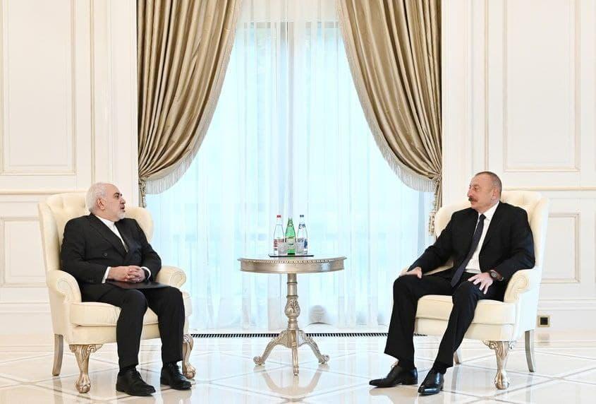 ظریف با «الهام علیاف» دیدار کرد